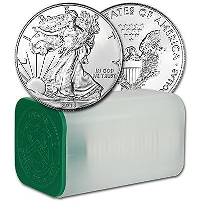 2018 American Silver Eagle 1 Roll - TWENTY (20) Coins in Mint Tube Brilliant Uncirculated