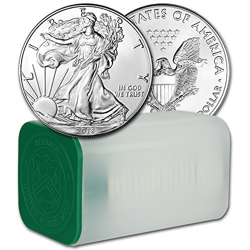 2018 American Silver Eagle 1 Roll - TWENTY (20) Coins in Mint Tube Brilliant Uncirculated