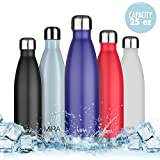 MIRA Insulated Water Bottle, Double Wall Vacuum Stainless Steel Water Bottle, 25 oz, Cola Shape, No sweating, Keeps Cold, Hot