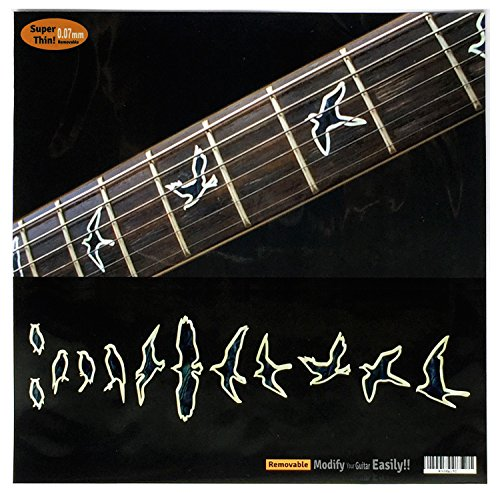 Fret Markers for Guitar & Bass Inlay Sticker Decals In Abalone Theme -Birds /B-BP