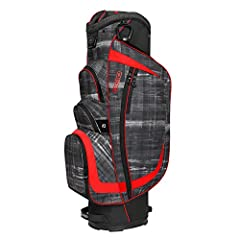 An incredible cart bag that gives you everything you need and nothing you don't. 15 way club management system. Fleece lined valuables pocket. 8 pockets bag.