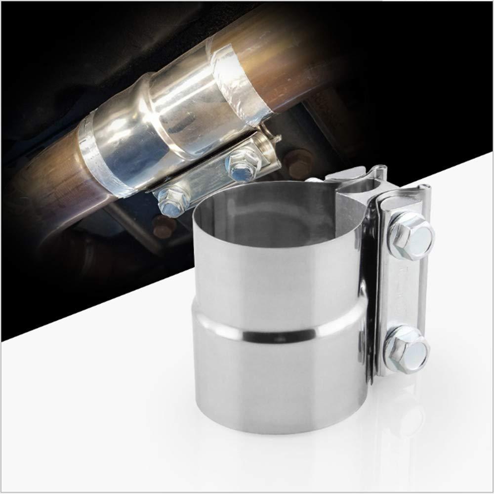 1xTuyau d'é chappement collier de serrage d'é chappement 57mmx63mm [2.25''x2.5 ''] Tube Connecteur Tube acier Clam Joiner Heavy Duty Version AUTLY