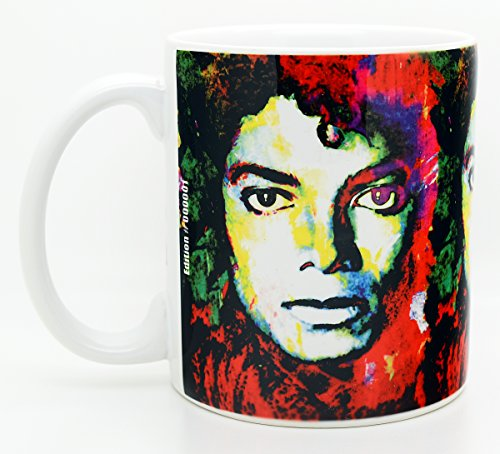 Michael Jackson Collectibles - Mark Lewis Art Michael Jackson Coffee Mug 11oz Cup | Signed Artwork Titled - Michael Jackson Study 1