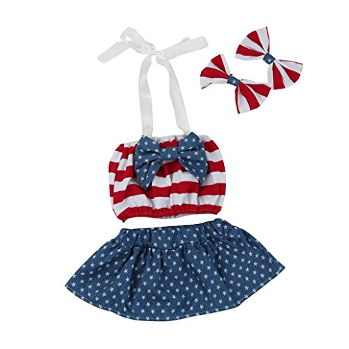 Baby Girl Clothes,Efaster Toddler Girl Star and Stripe Rompe