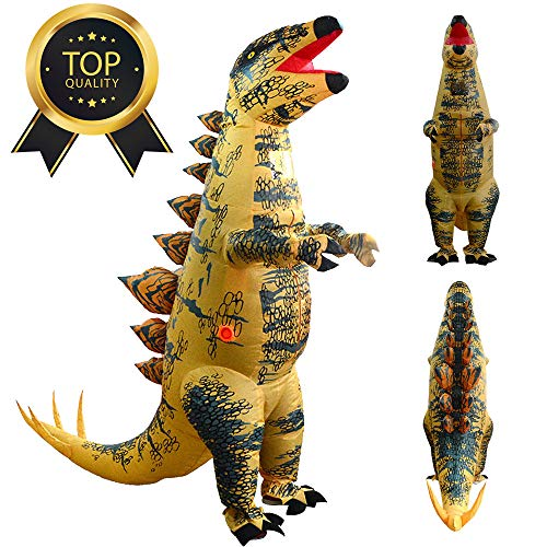 LtrottedJ Adult Inflatable Stegosaurus Dinosaur Blow Up Fancy Costume Suit Party Party Toy