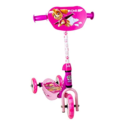 Paw Patrol DARP-OPAW110-F Skye Three Wheel Scooter with Adjustable Handlebar: Toys & Games