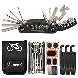 Oumers Bike Chain Tool + Chain Checker, 2-in-1 Universal Bicycle Chain Repair Tool/Bike Chain Splitter Cutter Breaker Chain Wear Indicator Tool/Bike Maintenance Fit 7 8 9 10 Speed Chain Link