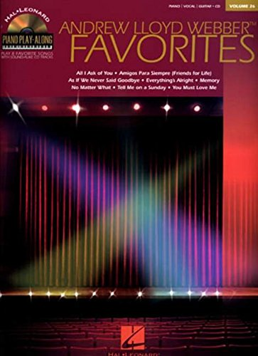 Andrew Lloyd Webber Favorites, Vol.26, Piano Play-Along (Book & Cd)