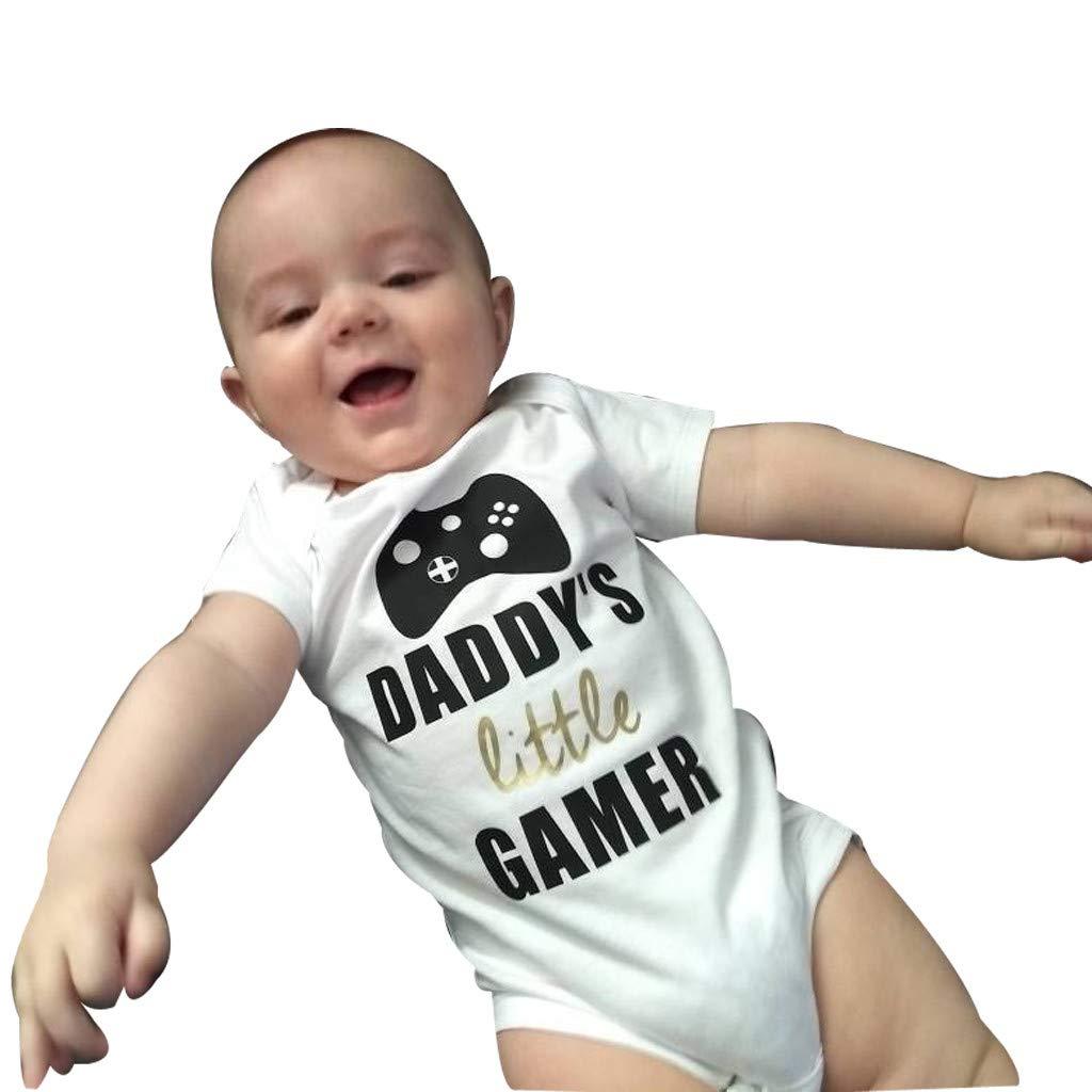 Body Estampado de Carta de beb/é ni/ño ni/ña Manga Cortos Recien ninos Algodon Bodies Linda bodis Monos Peleles Pijamas de una Pieza