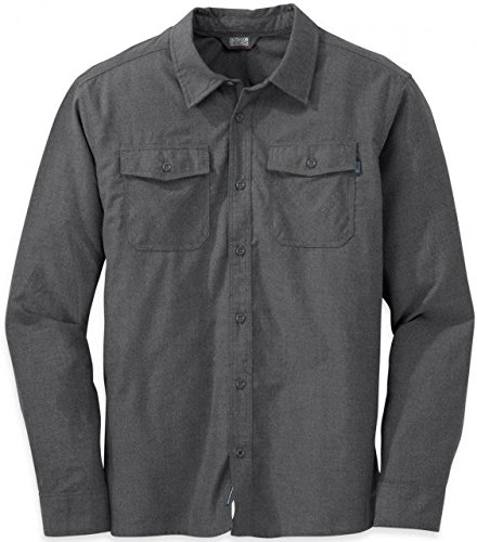 Outdoor Research Men's Gastown L/S Shirt, Charcoal, - Shops Gastown