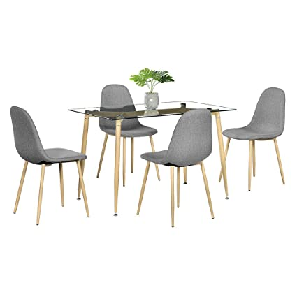 Amazon Com Cypress Shop Dining Set Chairs Table Set Wood