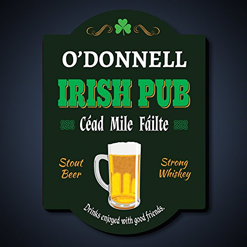 Cheers and Beers Personalized Irish Pub Sign (Customizable (Cheers Pub Sign)