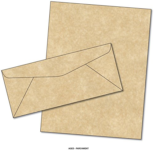 Parchment Matching Paper & Envelopes - Color: Aged