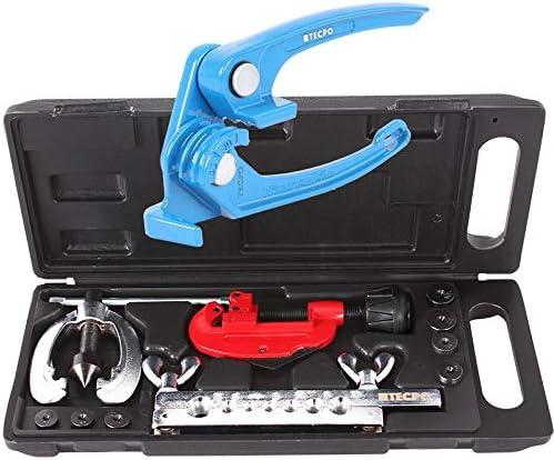 Tecpo Bördelgerät Bördel Werkzeug Mit Rohr Biegezange Und Rohrschneider Bremsleitungen Biegen Rohrbiegegerät Baumarkt