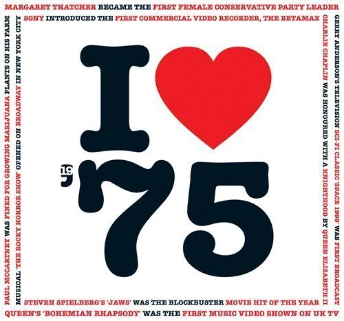 Price comparison product image 1975 BIRTHDAY or ANNIVERSARY GIFT - I Love 1975 Greeting Card & 1975 Chart Hits Compilation Music CD Gift with 20 Original Songs All Downloadable
