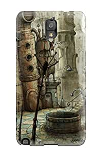 Galaxy Note 3 Case Slim [ultra Fit] Futuristic Robot City Protective Case Cover by supermalls
