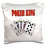 onepicebest Playing Cards - Poker King- Funny quote- Popular saying- - 18x18 inch Pillow Case