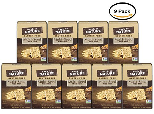 PACK OF 9 - Back to Nature Multi-Seed Rice Thin Crackers, 4 oz