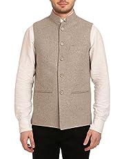 WINTAGE Men's Tweed Bandhgala Festive Nehru Jacket Waistcoat -3 Colors