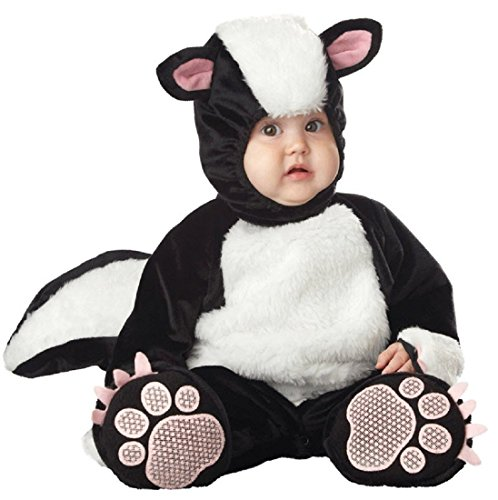 InCharacter Costumes Baby's Lil' Stinker Skunk Costume, Black/White/Pink, 12-18 Months]()