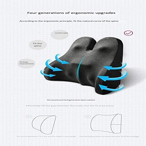 qwe XISABCS sittkudde kudde för kontorsstol – 100 % minnesskum, för bil, rullstol, dator och skrivbordsstol