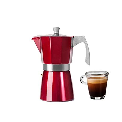 Amazon.com: Ibili Espresso Coffee Maker Evva Red 6 Cups ...