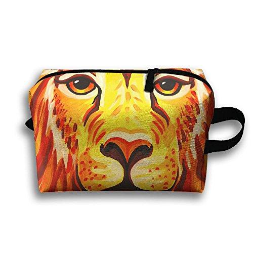 Cosmetic Bag Lion Face Paint Makeup Organizer Pouch Zipper Multifunction Portable Handbag ()