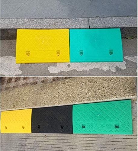 車のスロープ、ポータブル小型自転車トライアングルパッド上り坂ステップ階段車椅子上り坂パッド滑り止めマット、15.8-18.5センチメートル実用的(色:黒、サイズ:24.5 * 39.5 * 15.8センチメートル)