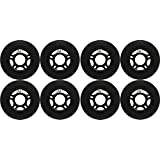 OUTDOOR Inline Skate Wheels ASPHALT Formula 80MM 89a BLACK x8