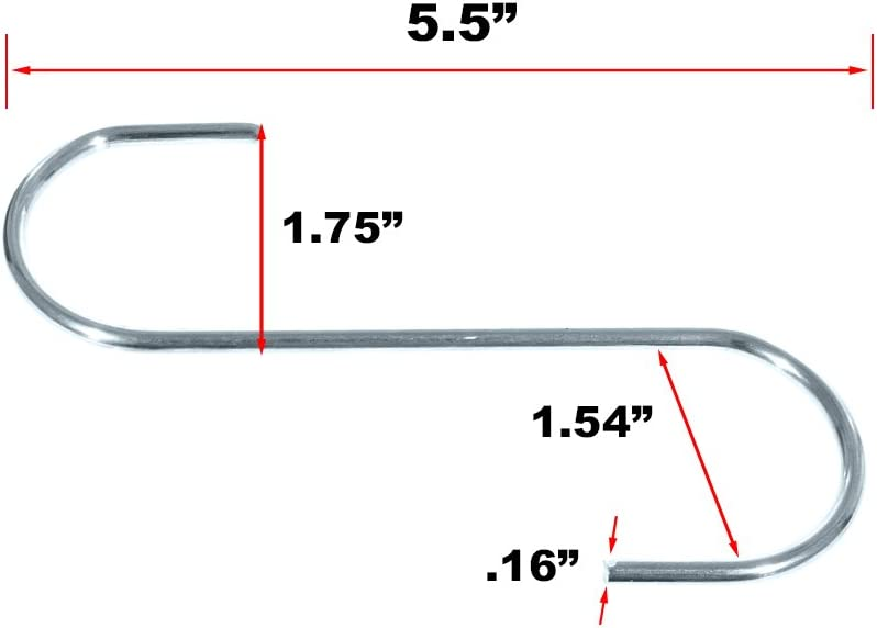 """Available in 5 S-Hook 1 3//4 inch Paracord Planet Overall Length of 5 1//2/"""" 10 - Metal Hanging Hooks and 25 Packs"""