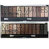 Best Matte Eye Shadows - Technic Mega Nudes & Mega Matte Nudes Eyeshadow Review