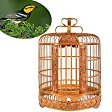 Dragon Carving Bird Cage Chuan Cage Carving Thrush Bird Cage Large Size Bamboo