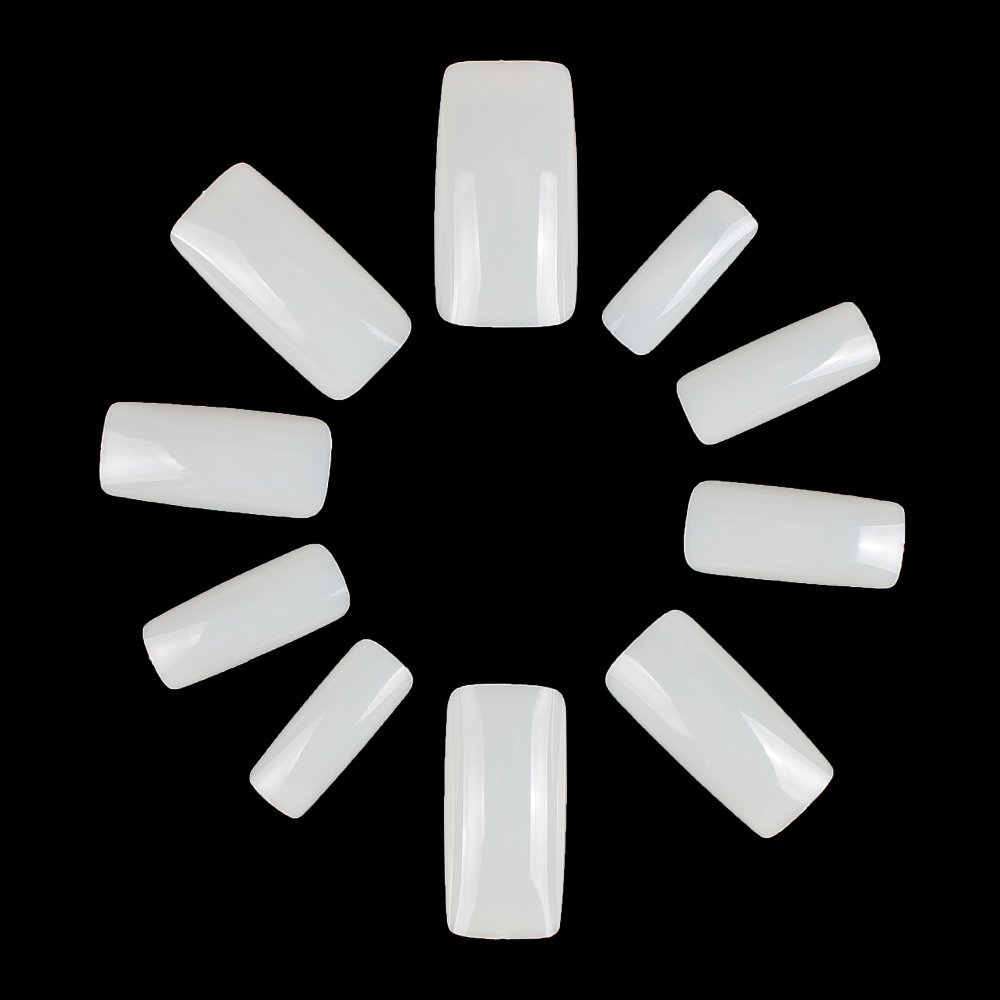 ECBASKET Full Cover False Nails Artificial Nail Tips 10 Sizes Acrylic Fake Nails (CLEAR) ECBASKET-HOT