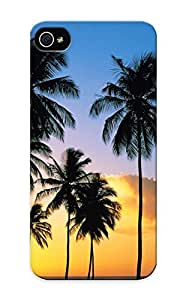 Catenaryoi High-end Case Cover Protector For Iphone 5/5s(palm Tree Silhouettes In The Sunset)