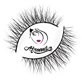 Mink False Eyelashes by Afromika Natural Short Soft Comfortable Lashes For Makeup Handmade Reusable 1 Pair Pack in Style Chrysi