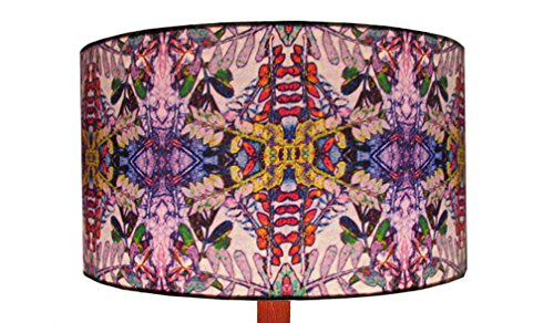 'Purple Hedgerow' 45cm cotton poplin drum lampshade by Annabel Hill Design