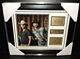 TIM MCGRAW KENNY CHESNEY COUNTRY LEGENDS LASER SIGNATURE 8X10 PHOTO FRAMED