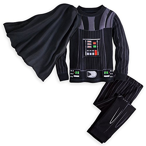 Star Wars Darth Vader Costume PJ PALS for Boys Size 7 Multi ()