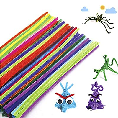 Anniston Kids Toys, 100Pcs Colorful Chenille Stems Pipe Cleaners DIY Art Crafts Development Kids Toy DIY Toys for Children Toddlers Boys Girls, 100pcs: Toys & Games