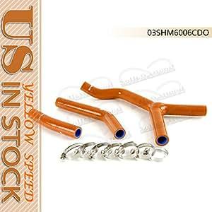SILICONE RADIATOR HOSE Kit FOR KTM 250SX 03-06 DARK ORANGE
