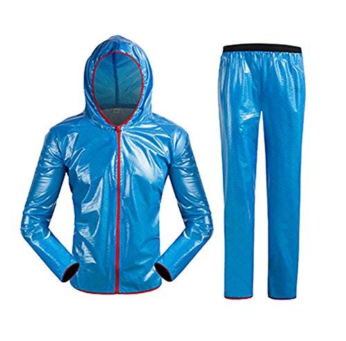 Bleu De Et Pantalon Fat Imperméable Cyclisme En Baby Homme Waterproof Plein Ensemble Air Combinaison Veste moto Pluie femme Unisex wBxUqwgH