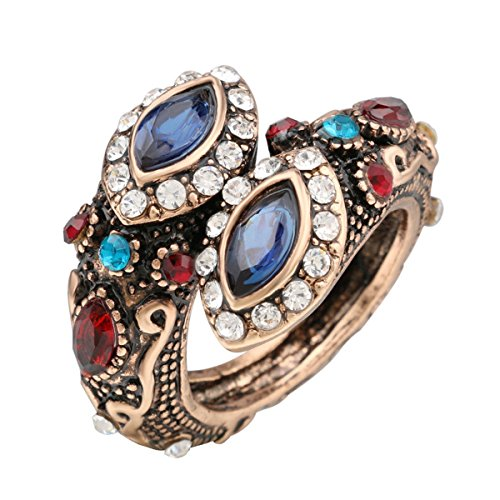 (Rings Evil Eye Snake Style CZ Sapphire Women's Wrap Turkish Mosaic Style Fashion)
