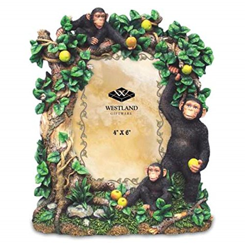 - WL SS-WL-2856, 4 x 6 Inch Chimpanzee in Green Vine Tree with Fruit Photo Frame 4