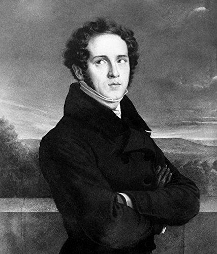 (Posterazzi Vincenzo Bellini (1801-1835). /Nitalian Composer. Miniature By Frederic Millet. by Poster Print by by (18 x 24) )