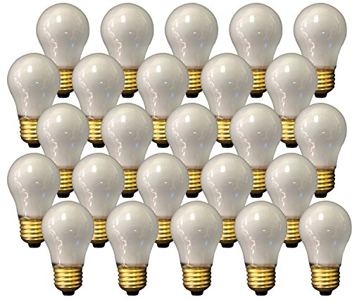 Royal Designs Long Life Appliance and Utility Light Bulb 15-Watt Frosted A-15 130V 2500 Life Hours ( 25-Pack ) ( LB-5012-25 )