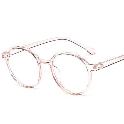 d70e3ac499 YMTP Gafas Ópticas Marco De Mujer Retro Redondo Transparente Miopía Marcos  De Anteojos Hombres Vintage Lectura