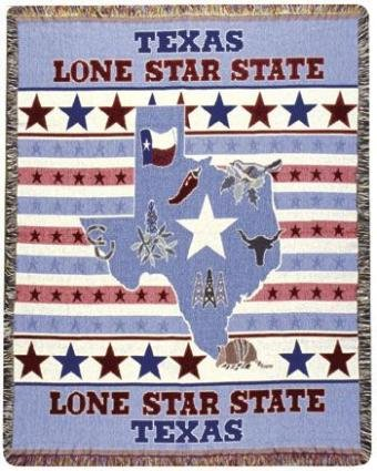 Lone Star Throw (Texas Lone Star State Tapestry Throw Blanket Afghan 50