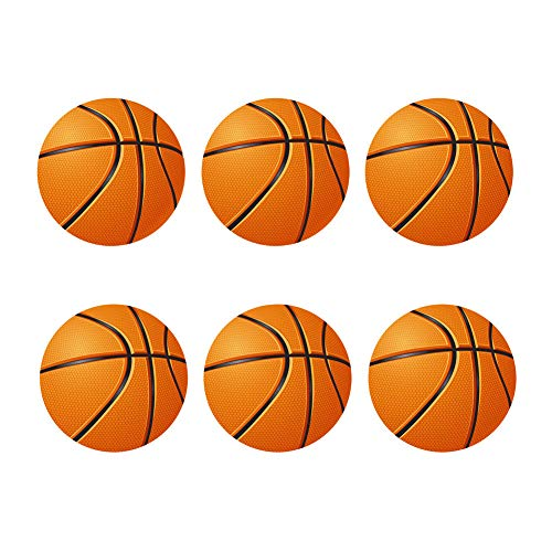 FOR U DESIGNS Basketballs Coaster for Drinks Absorbent Coasters Set Non Slipping Drink Spills Cup Mat Save Furniture from Stains & Damage