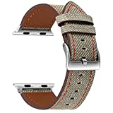 VONTER for Apple Watch Band 42mm - Genuine Leather for iWatch Apple Watch Series 3 2 1