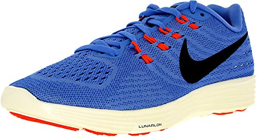 Nike Women's WMNS Lunartempo 2 Running Shoes, Blue Blue (Chalk Blue / Black - Racer Blue - Hyper Orange)